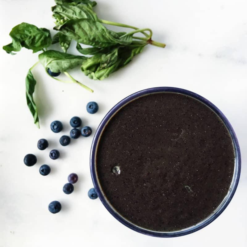 Chocolate Blueberry Basil Smoothie