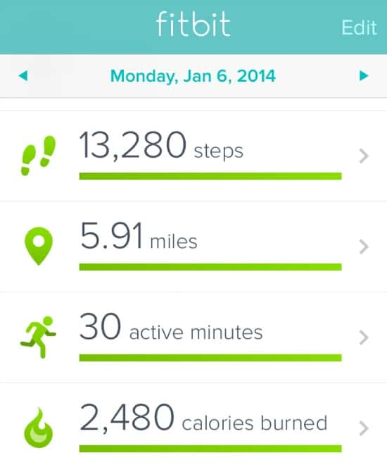 Monday-Fitbit