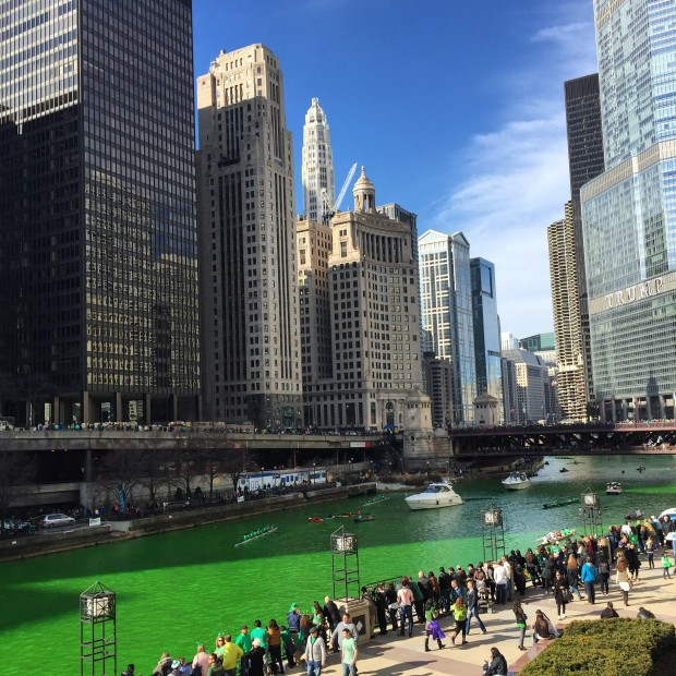 Grad Class + St. Patrick's Day in Chicago