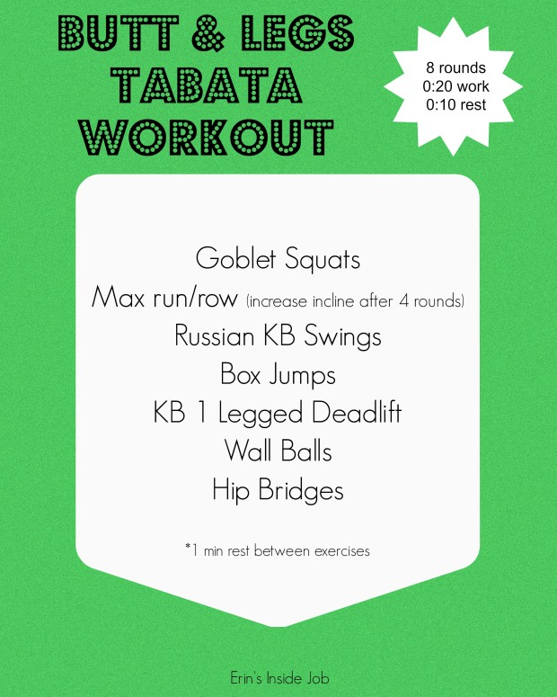 Butt & Legs Tabata Workout