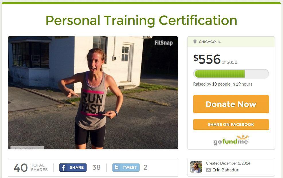 How I Used Gofundme To Raise Money For Personal Training Erins