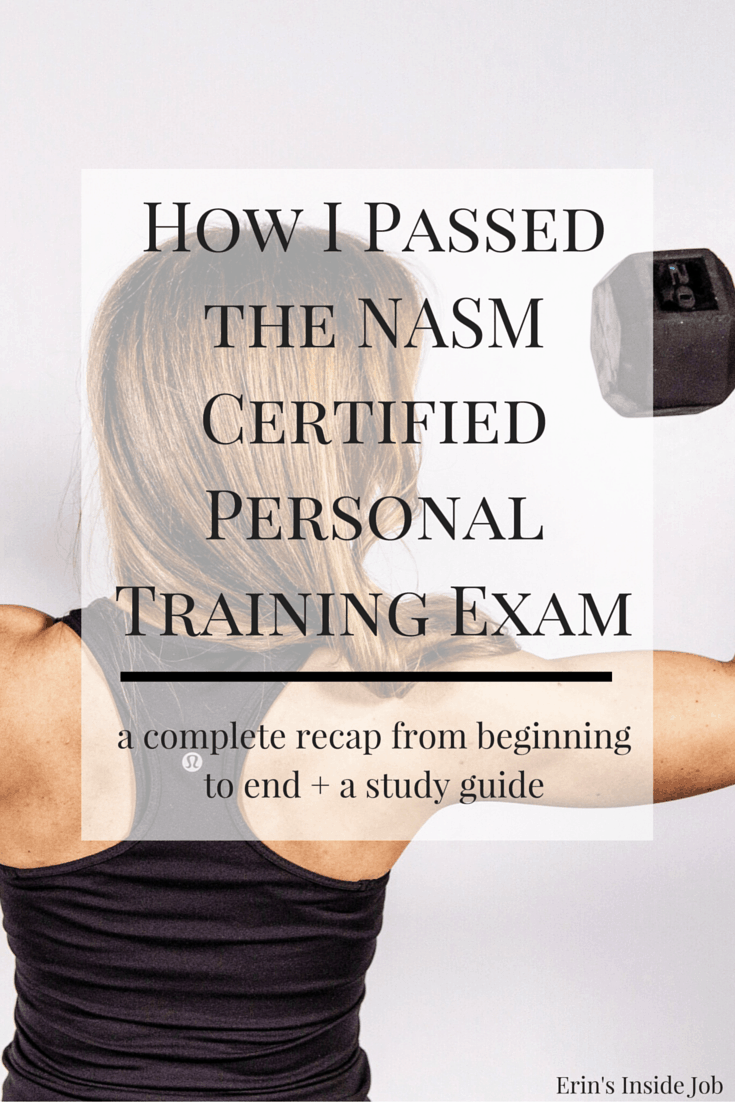 Passing the nasm certified personal training exam erins inside job prepping for the nasm certified personal training exam here is my complete recap from when xflitez Gallery