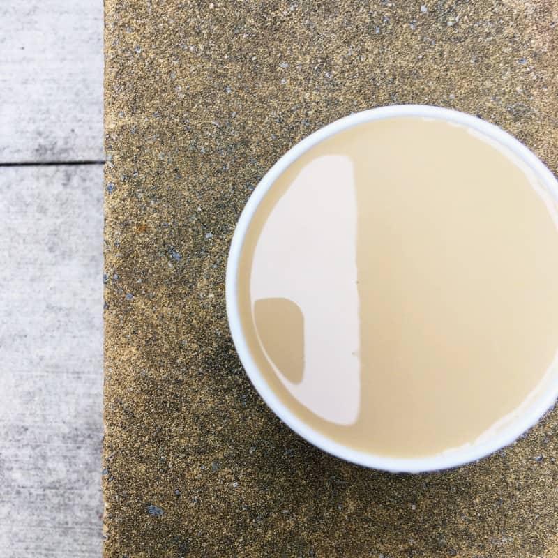 David's Tea eggnog latte
