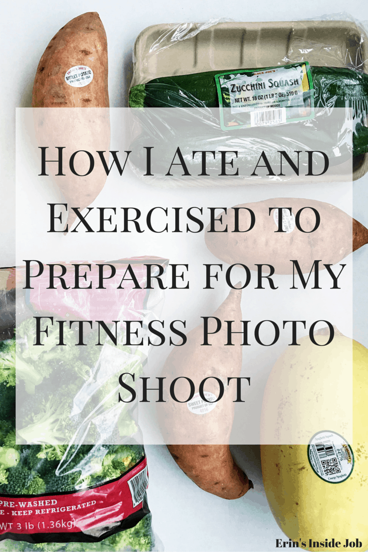 A recap of a my typical daily eats and workout routine for the three weeks leading up to my fitness photo shoot!