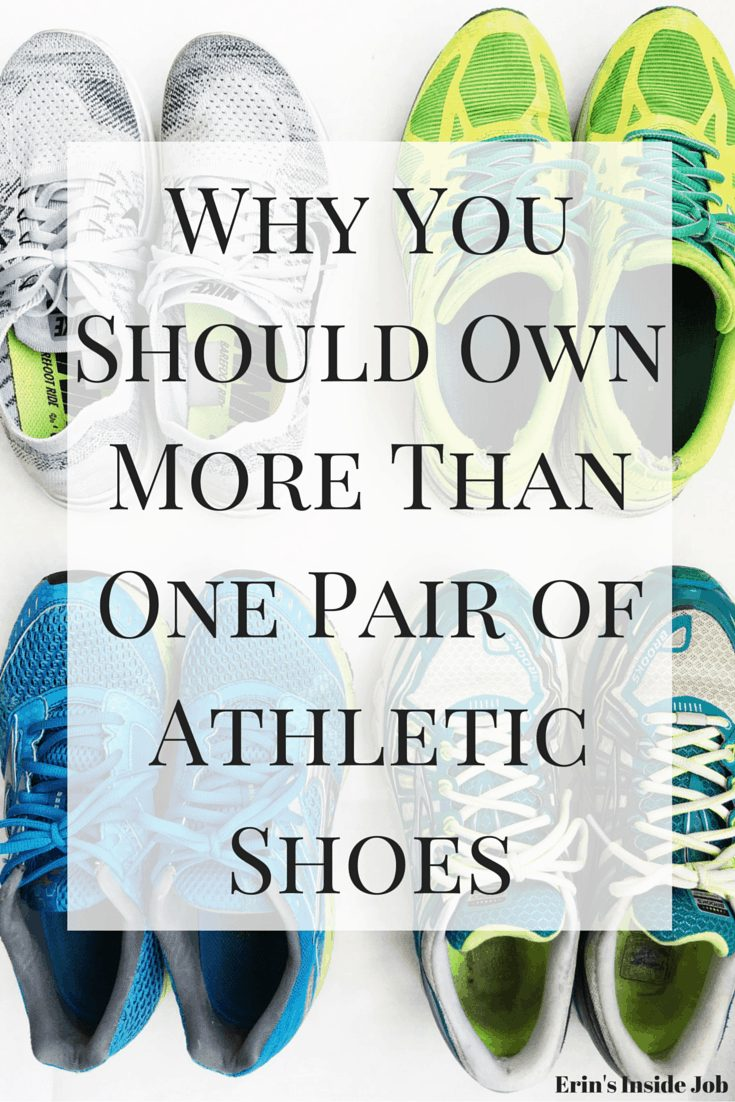 See why having more than one pair of athletic shoes is important for versatility and injury prevention!