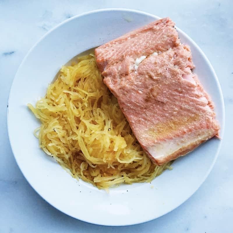 Salmon Spaghetti Squash
