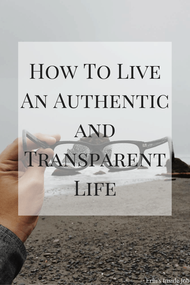 Learning to live an authentic and transparent life has been one of the most important things in my recovery and in becoming a better person. See the difference between the two and how to achieve them!