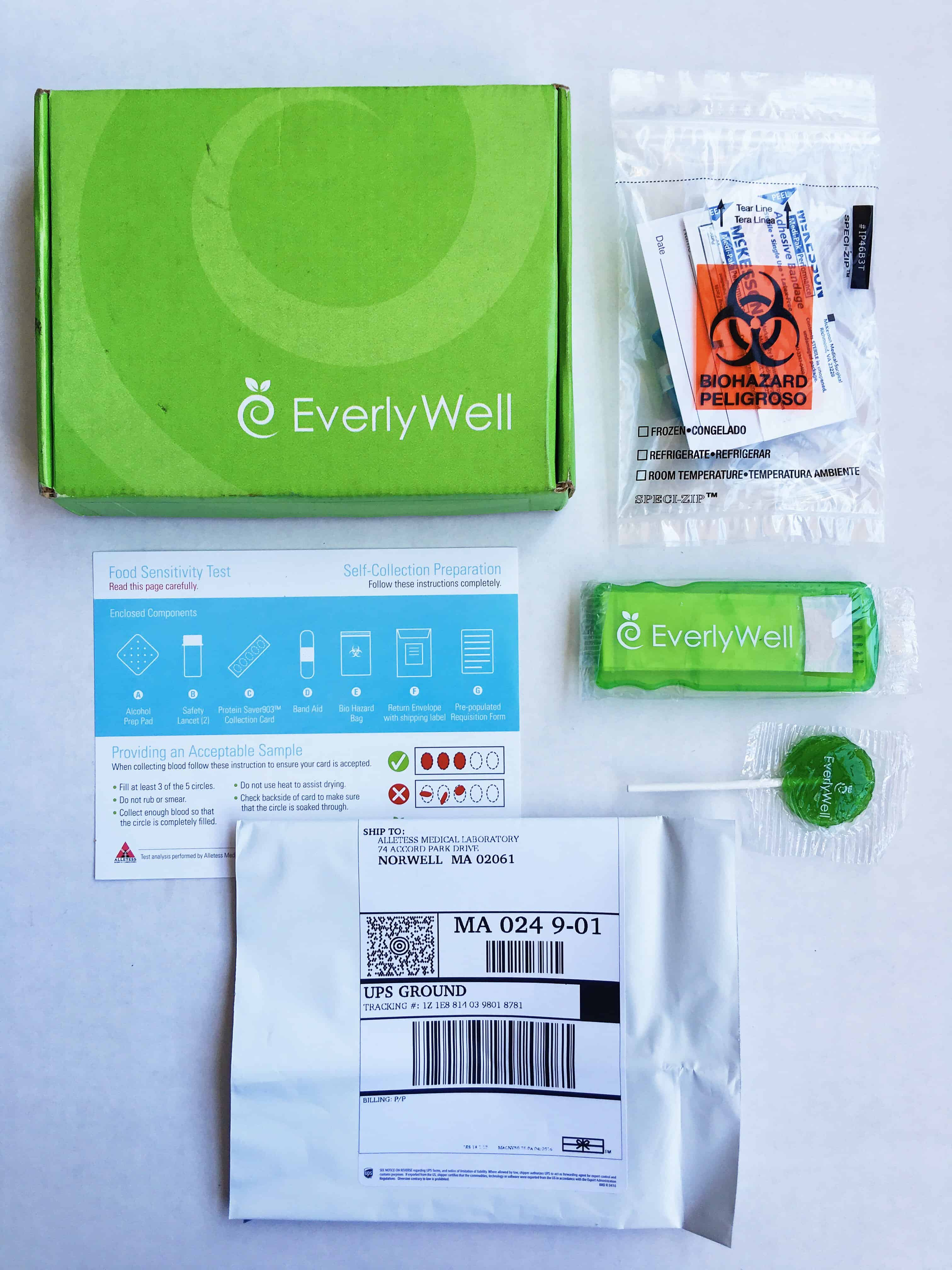 A recap and review of my experience with EverlyWell food sensitivity testing. Quick, easy, and results quicker than regular labs! #ad