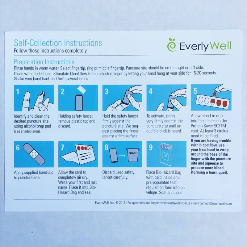 EverlyWell Testing Kit 2