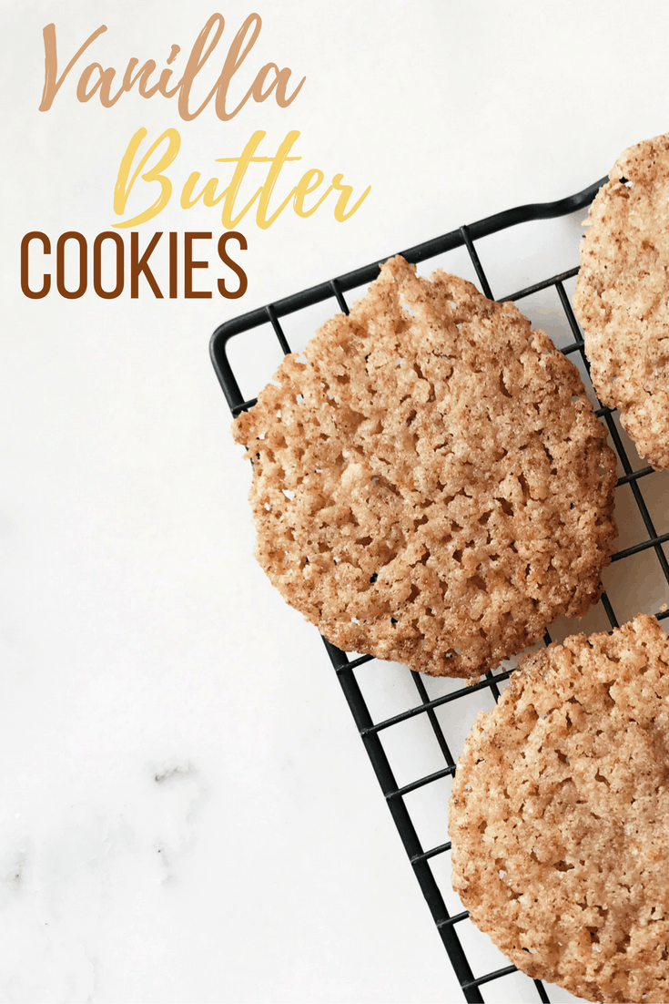 These vanilla butter cookies are SUPER simple to make and even contain protein and collagen with a little help from Vital Proteins. Make them today!!