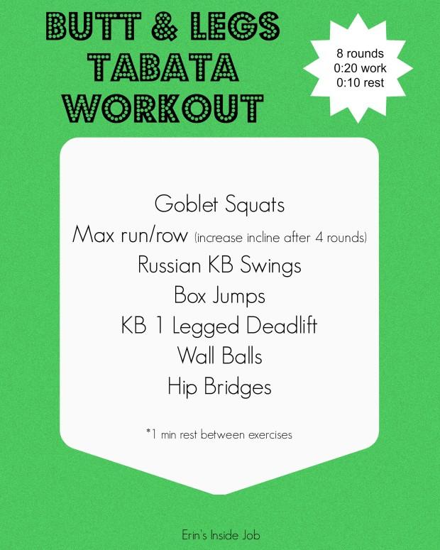 Butt & Legs Tabata Workout
