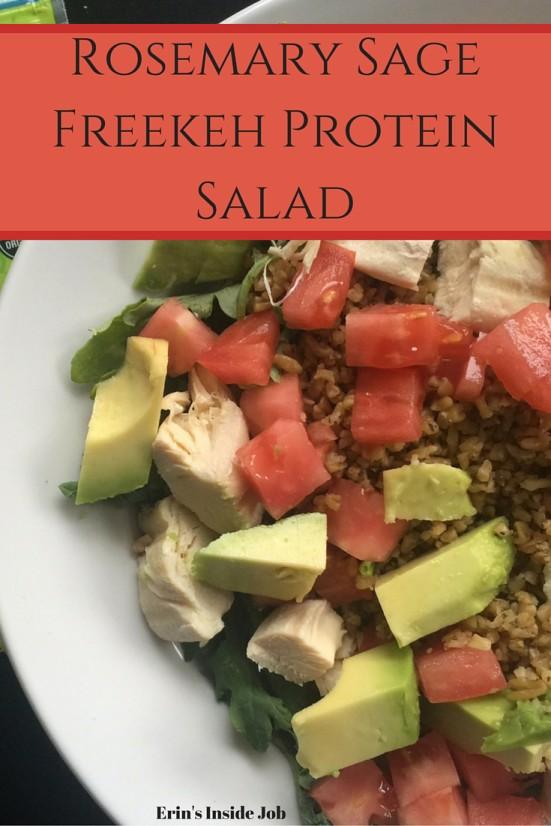 Rosemary Sage Freekeh Protein Salad