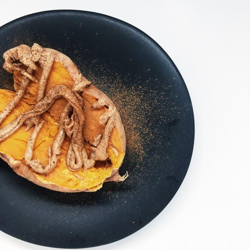 sweet potato cinnamon and almond butter