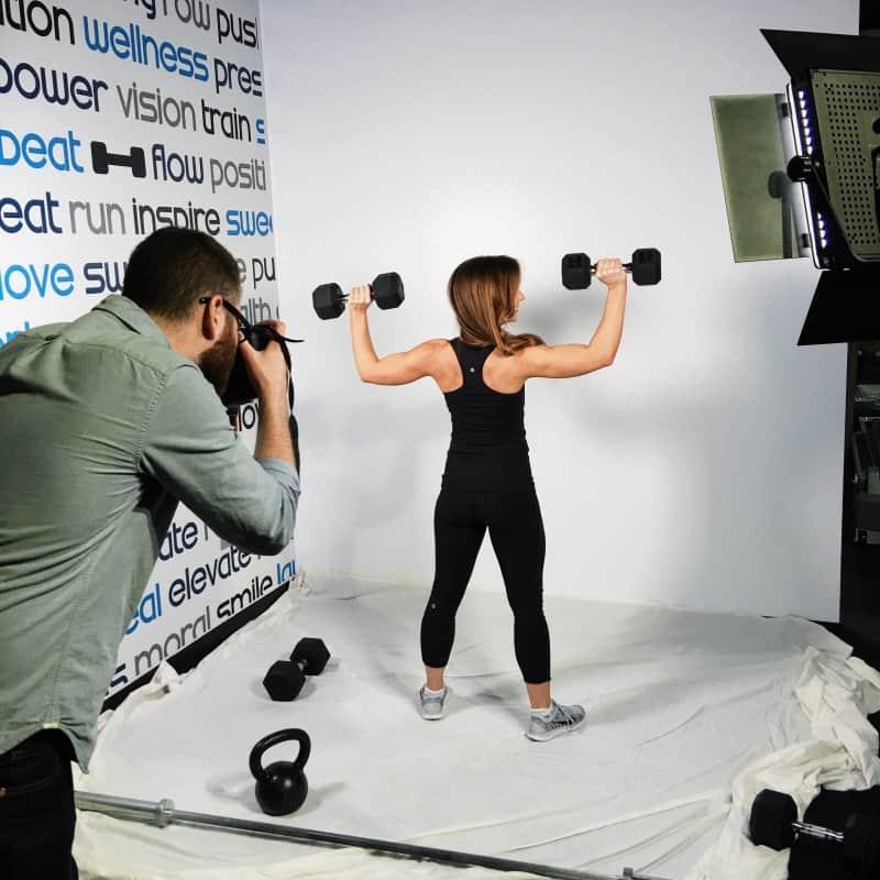 Sweat photo shoot