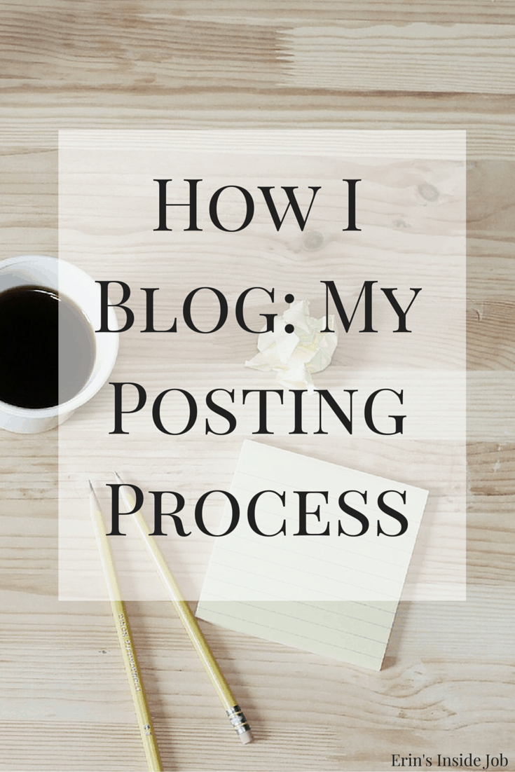 Blogging is something that takes time and dedication. Here is a look into how I blog and what my process looks like for me!