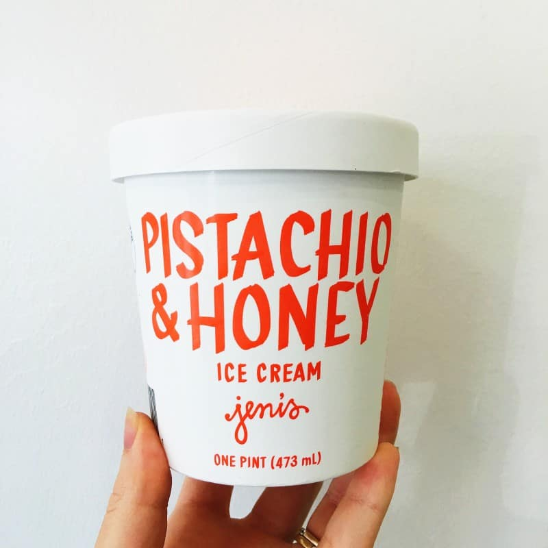 Jenis Pistachio and Honey Ice Cream