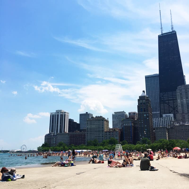 Oak Street Beach Chicago