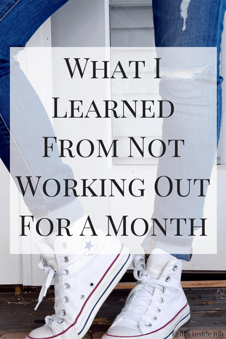 After a back strain, here's what I learned from not working out for a month.