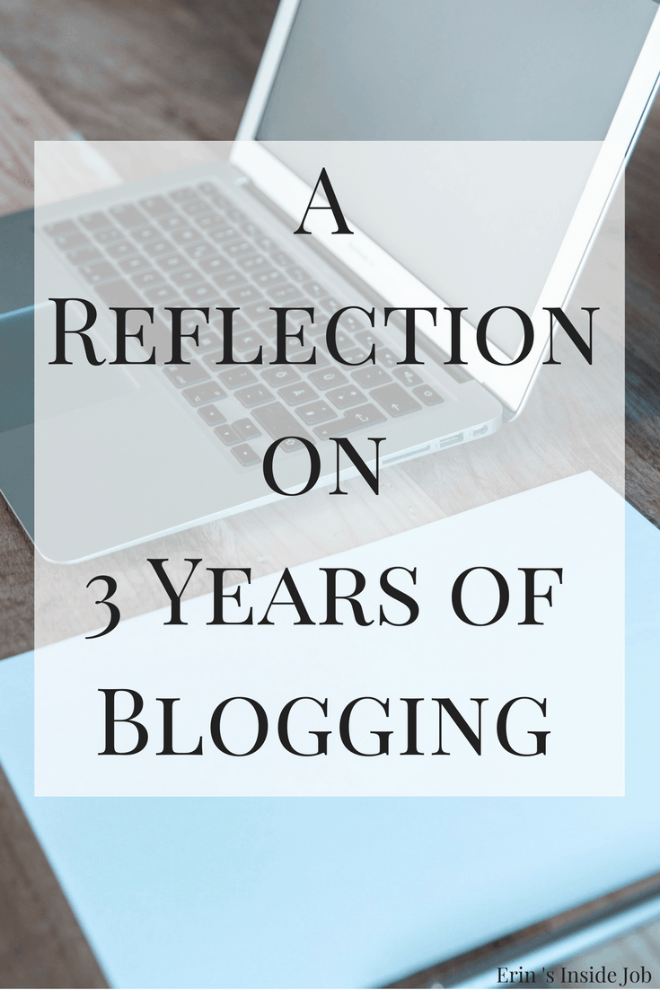 A Reflection on 3 Years of Blogging