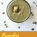 Turn pumpkin seeds into a nut-free butter alternative in minutes with no added oil and only three ingredients! This pumpkin seed butter is quick, easy, and delicious!