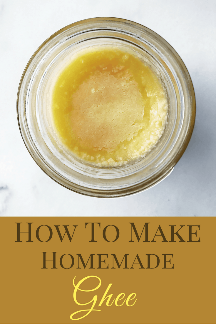 A super simple recipe on how to make homemade ghee - what it is, the benefits, and a step-by-step tutorial with pictures. Save tons of money by making it at home!