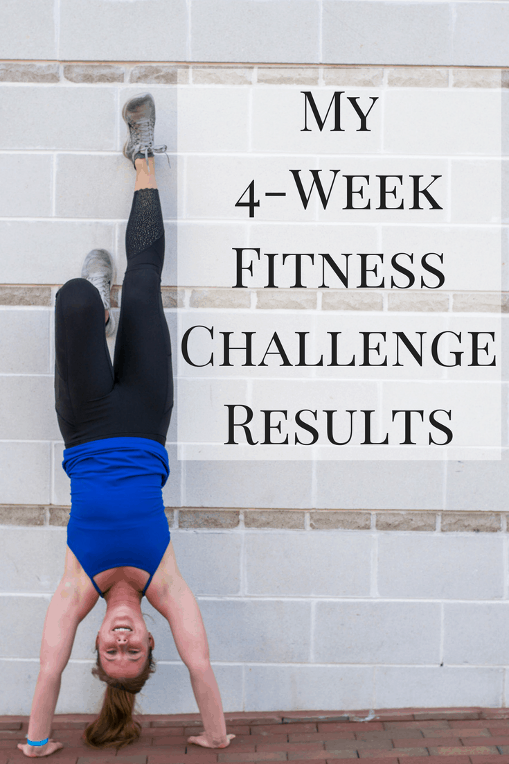 A look at my 4-week fitness challenge results - what the challenge entailed, how I did it, my results, and what I plan to do going forward!
