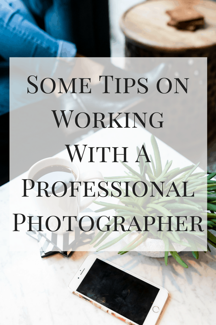 Here are some of my tips on working with a professional photographer that I've learned through several photoshoots!