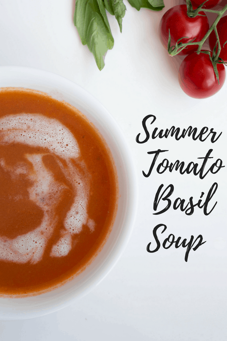 This tomato basil soup is the perfect send off to summer - made with fresh garden tomatoes and ready in under an hour, it's the perfect way to use up tomatoes before fall sets in.