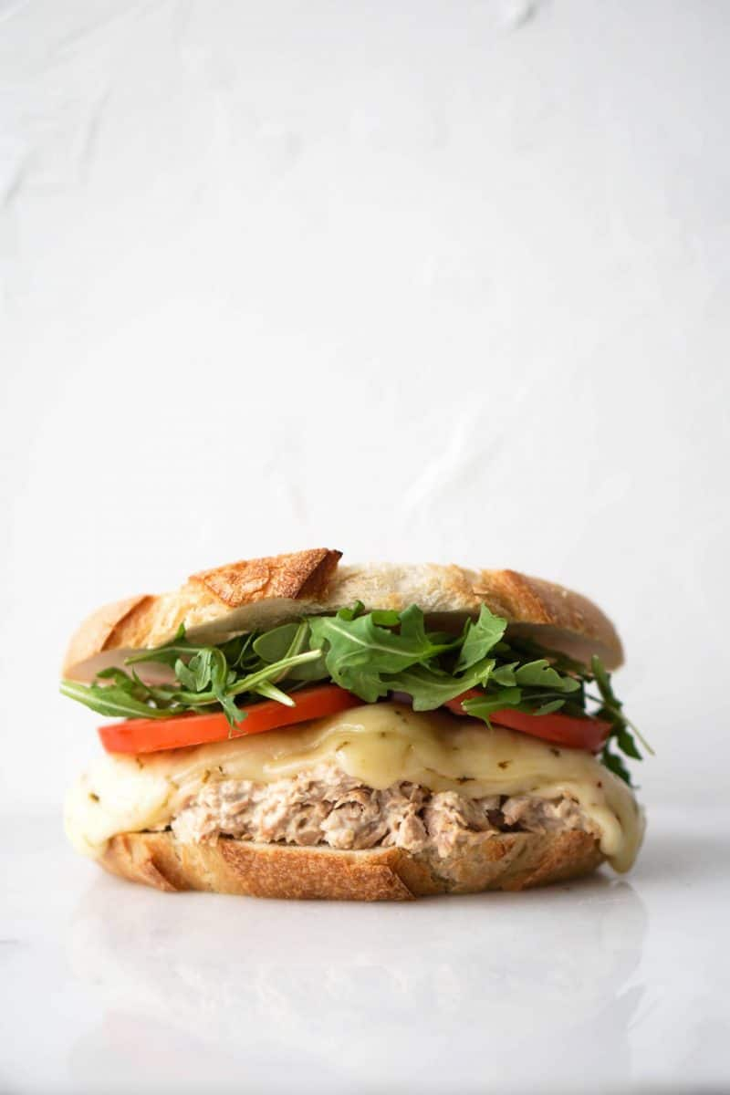 Enjoy this sourdough tuna melt with a healthier mayonnaise made with avocado oil. make sure to add some greens and tomatoes for some added nutrition. Lunch, dinner, or anything in between is a perfect time for this sandwich!