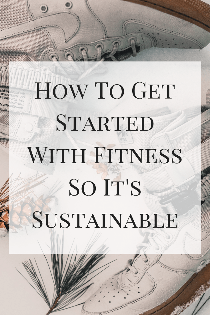 A look at some easy ways to get started with fitness so it's sustainable this new year. Don't let those resolutions go to waste! #fitness #exercise #resolution #beginnerfitness