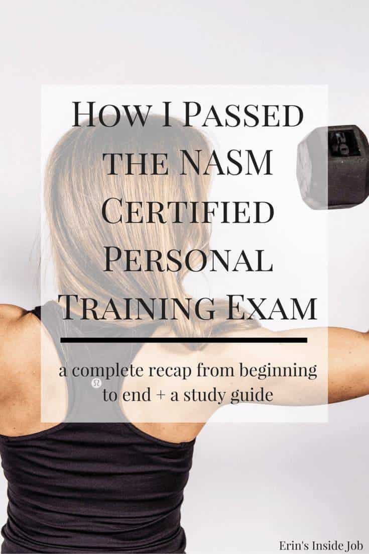 Prepping for the NASM Certified Personal Training Exam? Here is my complete recap from when I purchased my study materials all the way through the exam itself. Helpful tips and LOTS of insight into the test format (PLUS a discount!).