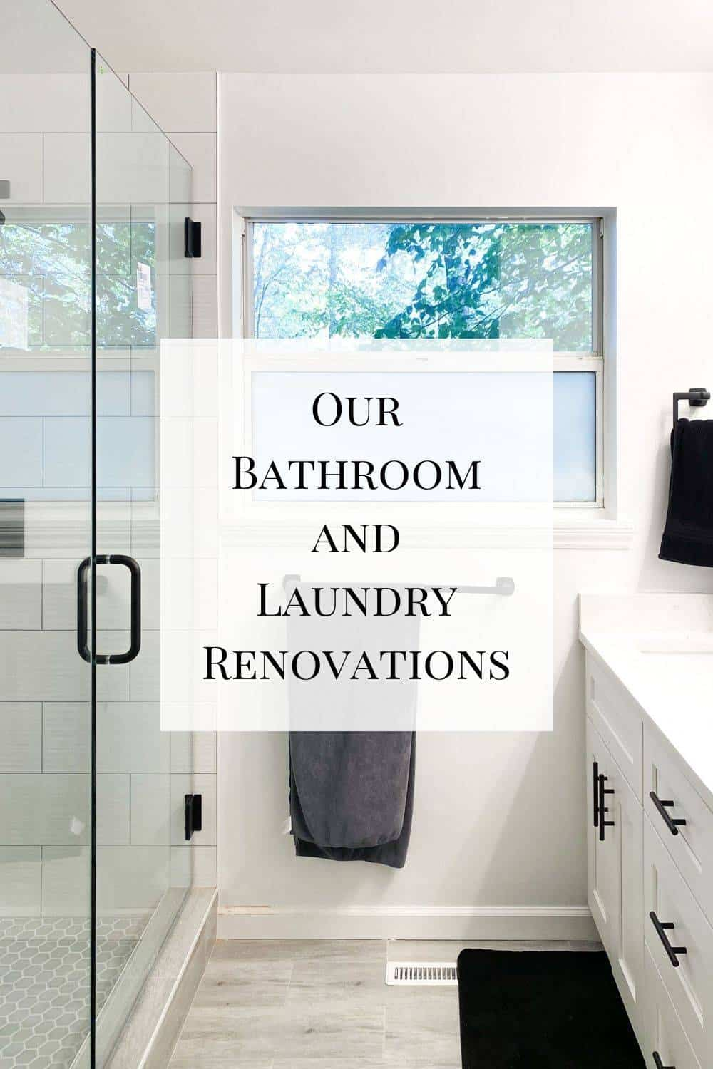 A look at our bathroom and laundry renovations - the last of our interior renovations we had done.