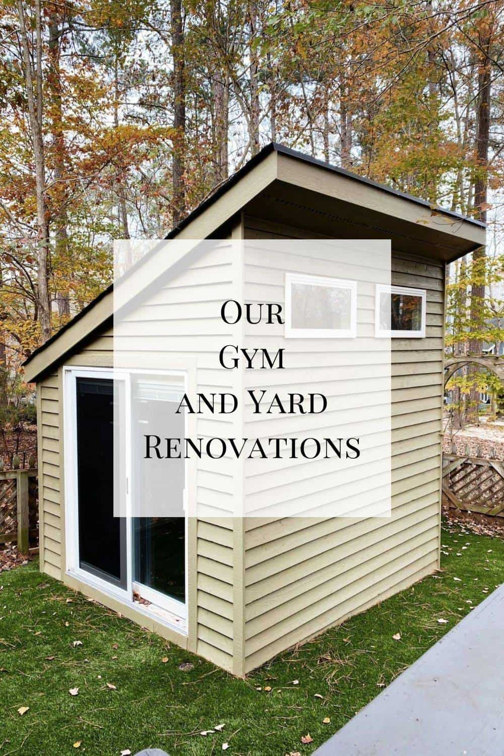 The final post in this series - a look at our gym and yard renovations. Hope you enjoy!